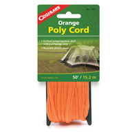 Coghlan's White Braided Poly Cord 1/4 in X 50 ft. - Orange