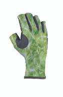 Buff Pro Series Angler 3 Gloves Bug Slinger Water Camo Green