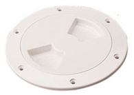 "Deck Plate 4"" Screw Out with Internal Collar White ABS"