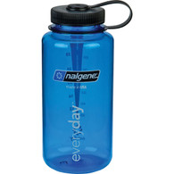 Nalgene Tritan Wide Mouth BPA-Free Water Bottle, 1-Quart - Slate Blue with Black Cap