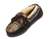 Weber's Adult Camoflage Leather Moccasins Realtree AP Size 10