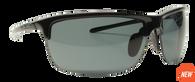 Reflekt Unsinkable Polarized Sunglasses Vapor 2.0 - Ebony with Color Blast Grey Lens