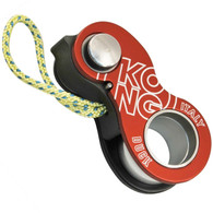 Kong Duck Belay Device - Black/Red