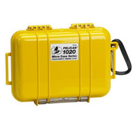 Pelican 1020 Micro Case Solid Yellow with Liner