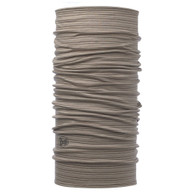 Lightweight Merino Wool Buff - Walnut Brown Stripes