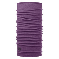 Midweight Merino Wool Buff - Purple Melange