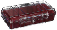 Pelican 1060 Micro Case - Clear/Red