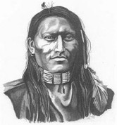 Plains Indian Scout Pencil Sketch by Craig Cassell, a quadraplegic artist who draws with his mouth.