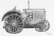 Antique McCormick-Deering Tractor Pencil Sketch by Craig Cassell, a quadraplegic artist who draws with his mouth.