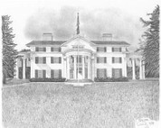 Old Plantation House Pencil Sketch by Craig Cassell, a quadraplegic artist who draws with his mouth.