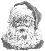 Santa Claus Pencil Sketch by Craig Cassell