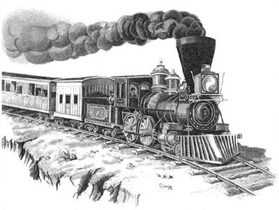Choo Choo Train Pencil Sketch