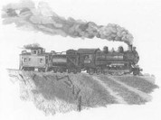 Train Pencil Sketch by Craig Cassell, a quadraplegic artist who draws with his mouth.