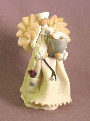 Nurse Angel Polymer Clay Figurine