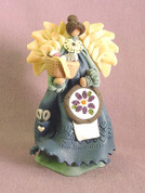 Needlepoint Angel Polymer Clay Figurine
