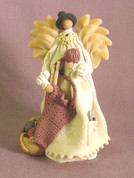 Knitter's Angel Polymer Clay Figurine