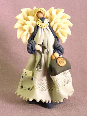 Nurse Practitioner Angel Polymer Clay Figurine
