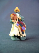 Tiny Amish Quilter Polymer Clay Figurine