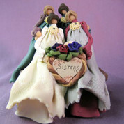 Four Sisters Polymer Clay Figurine