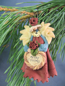 """Merry Christmas"" Angel Ornament Polymer Clay Figurine"