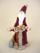 Santa Wishing Upon a Star Figurine Polymer Clay Figurine