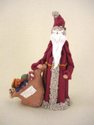 Santa's Bag of Toys Figurine Polymer Clay Figurine
