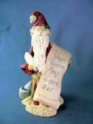 Santa Personalized Scroll of Names Figurine Polymer Clay Figurine