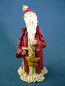 "Santa w/ Star ""Peace"" Figurine Polymer Clay Figurine"