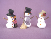 Snowman Collection Figurines Polymer Clay Figurine
