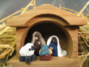 Family Nativity Figurines Polymer Clay Figurine