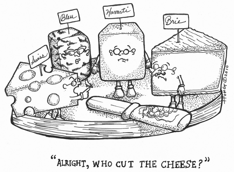 What is the attraction in smelly cheeses?