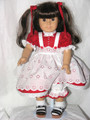 American Girl 18 inch Doll Clothes RED DOT DRESS EYELET PINAFORE