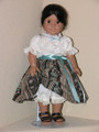 American Girl 18 inch Doll Clothes Josefina STRIPE SKIRT, BLOUSE