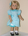 1930s PERIOD BLUE GREEN DRESS Kit Handmade American Girl Clothes