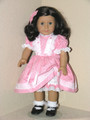 American Girl 18 inch Doll Clothes Kit Floral Stripe Dress Pink