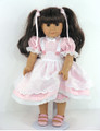 American Girl Handmade Doll Clothes Pinafore Pink Check Dress