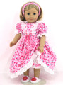 Flannel Gown Pink Hearts PJs Handmade American Girl Doll Clothes