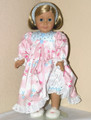 Flannel Doll 18 inch American Girl Nightgown Blue Snowman