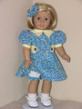 1930s PERIOD BLUE DRESS Kit 18 inch American Girl Doll Clothes