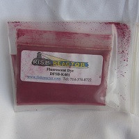 Five grams of dry powder colorants for use with fluorescent UV lights.