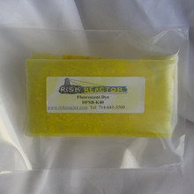 Yellow invisible ultra violet colored dye.