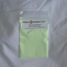 PF-01 Invisible Green Fluorescent UV Pigment Video using 365 nm black lights