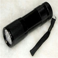 365 nm black light flashlight torch for use in security applications that include drivers license checks bank notes etc.