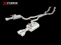 "X Force VE - VF Twin 2.5"" Stainless Steel Cat-Back System With Piping and Varex Rear Mufflers"