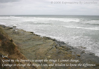 SERENITY PRAYER BEACH CARD