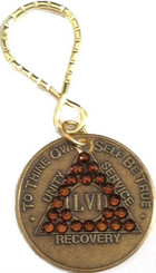 BRONZE CRYSTALLIZED KEY-TAG