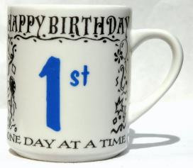 BIRTHDAY, ONE DAY AT A TIME MUG