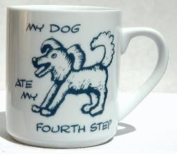 MY DOG ATE MY 4TH STEP MUG