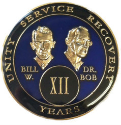 BILL & BOB BLUE TRIPLATE MEDALLION