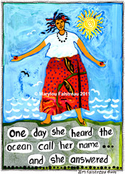 HEARD THE OCEAN CALL HER NAME CARD
